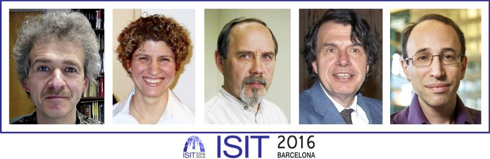 ISIT 2016 Plenary Speakers