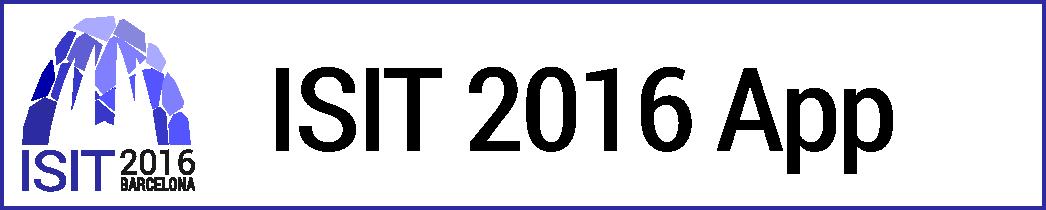 ISIT 2016 App